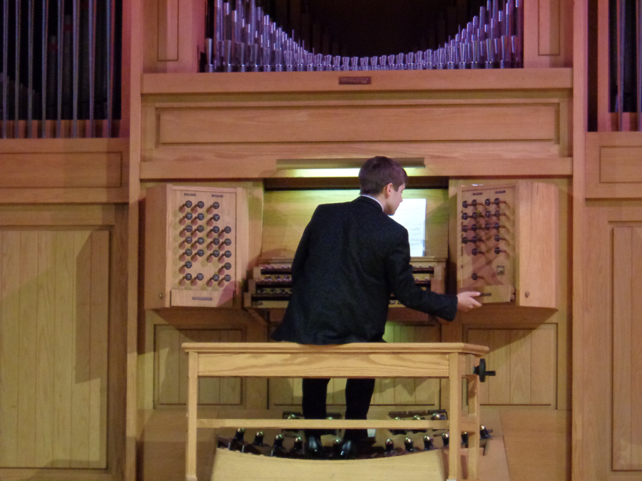 man at organ 2014